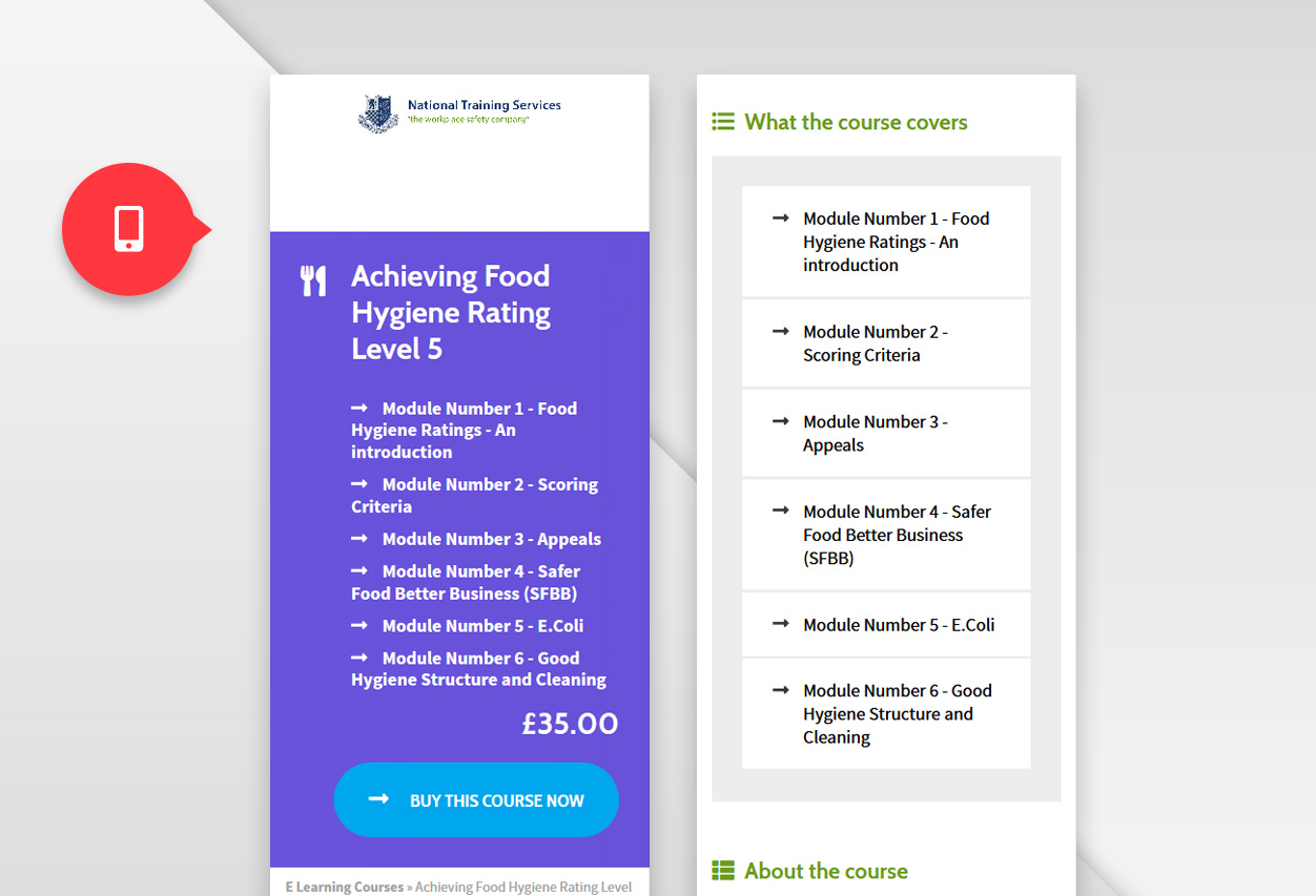 nts elearning web mobile
