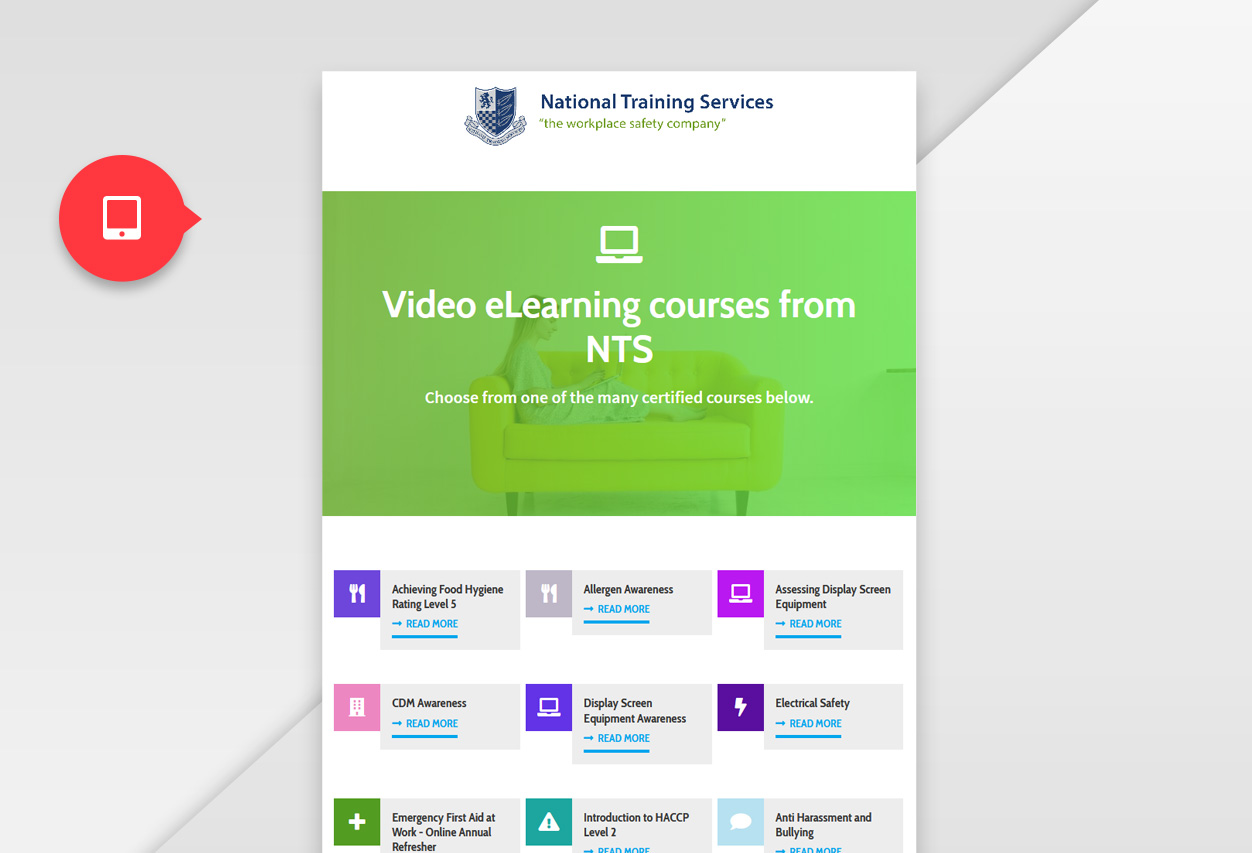 nts elearning web tablet